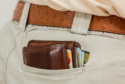 Brieftasche wird dicker